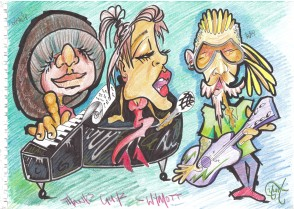 Project team caricature by HMP Wymott participant