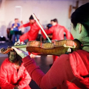 Advent Calendar Day 4, 4th December. A jolly photo from our 2011 collaborative project 'A Bigger Sound' with Rideout and the Royal Philharmonic Orchestra Resound at HMP The Mount. More about the project here; https://irenetaylortrust.com/a-bigger-sound/