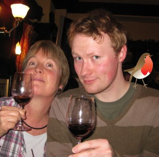 Advent Calendar Day 5; Sara and Luke make a start on the mulled wine...
