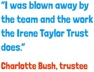 "Charlotte Bush quote: ""I was blown away by the team and the work ITT does."""