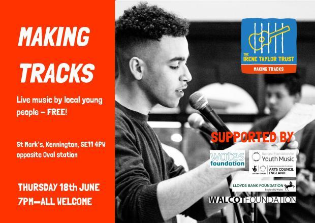 Making Tracks invite, Thursday 18th June 2015