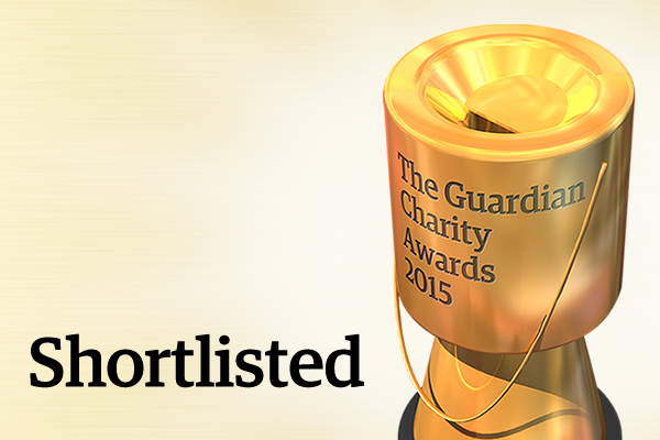 Short listed for Guardian Charity Awards