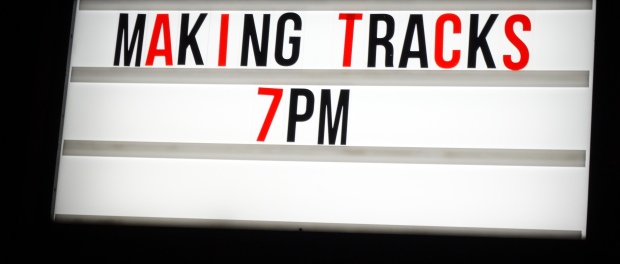 Making Tracks sign at Pop Brixton