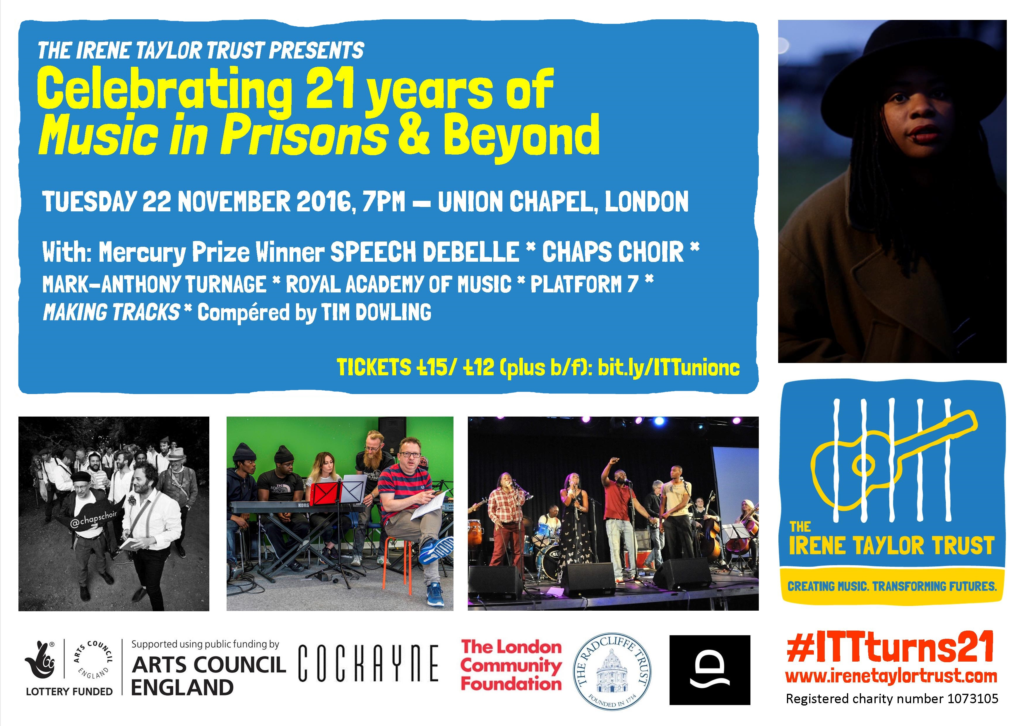 Celebrating 21 Years of Music in Prisons at the Union Chapel