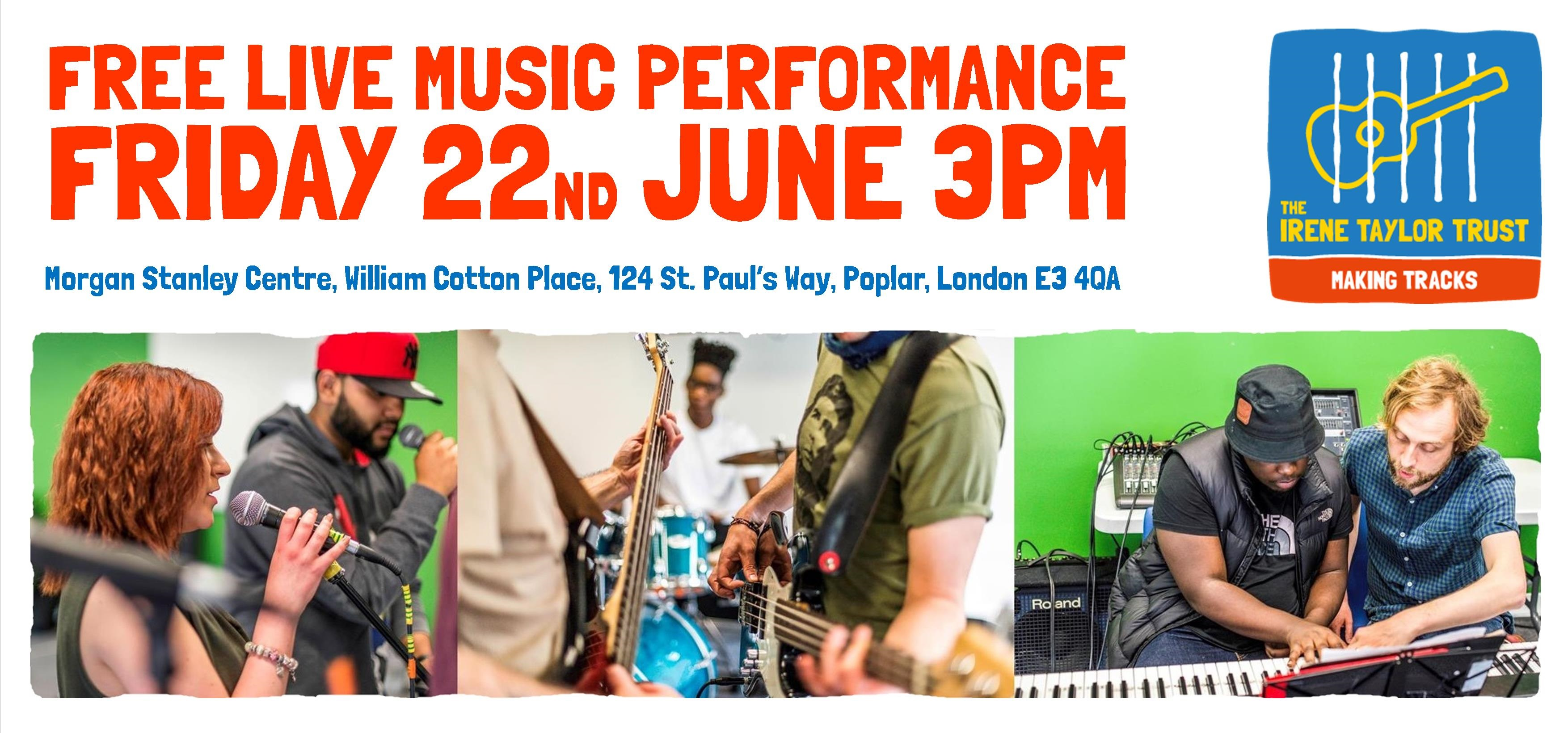 live music in poplar from making tracks in partnership with the
