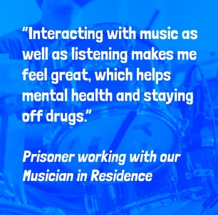 """""""Interacting with music as well as listening makes me feel great which helps mental health and staying off drugs."""""""